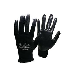 1 Pair PU Coated Black Polyester Cut Resistant Comfortable W