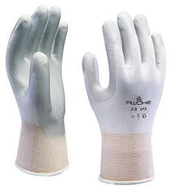 10 x Pairs Of Showa 370 White Assembly Grip Gloves Nitrile C