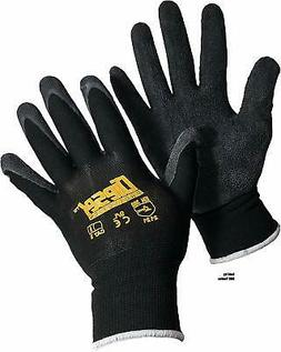 12 Pair Diesel Black Safety Gloves Latex Coated Grip Cut Res