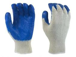 12 PAIR XL, ECONOMY RUBBER DIPPED STRING KNIT GLOVES PALM CO