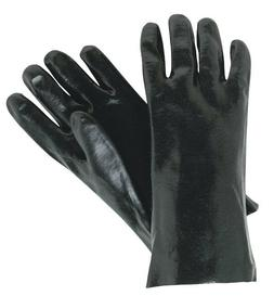 MCR Safety Single Dipped PVC Coated Work Gloves, Large