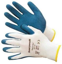 HONEYWELL NORTH 125-L Coated Gloves,L,Blue/White,PR