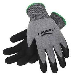 CONDOR 19K978 Coated Gloves,XL,Gray/Black,PR
