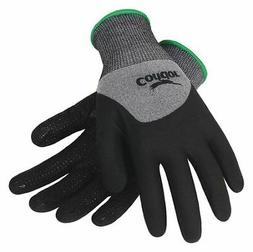 CONDOR 19K992 Coated Gloves,L,Gray/Black,PR