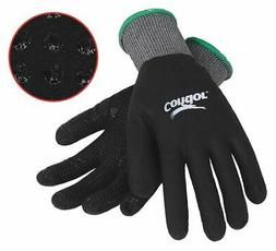 CONDOR 19K995 Coated Gloves,S,Gray/Black,PR