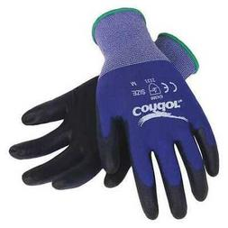 CONDOR 19L478 Coated Gloves,S,Blue/Black,PR