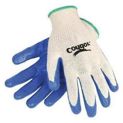 CONDOR 19L533 Coated Gloves,M,Nature/Blue,PR