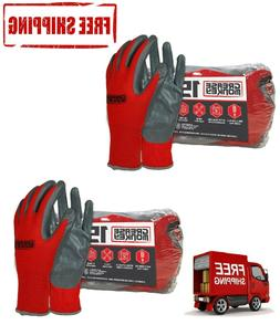 2 Pack of Grease Monkey Nitrile-Coated Work Gloves - 15 pk