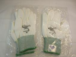 2 Pair Cut Resistant Knit Gloves w/ Coated Palm Size 10  Sup