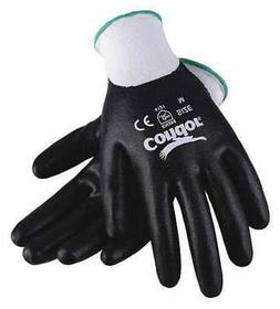 CONDOR 20GZ63 Coated Gloves,Nitrile,L,Wht/Blk,PR