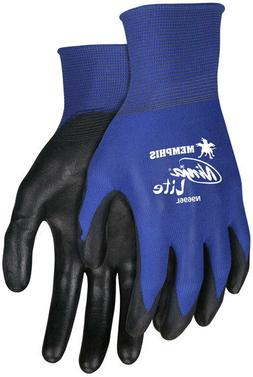3 Pair Memphis Ninja Nylon Work Gloves with Polyurethane Coa