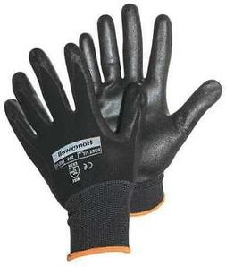 HONEYWELL NORTH 393-M Coated Gloves,M,Black,PR