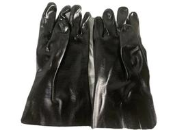 12 Pairs Safety PVC Coated Chemical Resistant Work Gloves, B