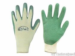 SAS Safety 6639 Cotton/Poly Knit with Green Latex Coated Pal