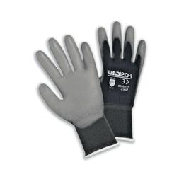 West Chester 715SUGB/M PU Palm Coated Black Nylon Gloves Med