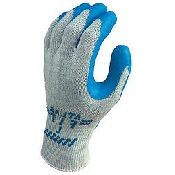 Atlas Fit 300 Rubber-Coated Gloves, Large, Blue/Gray