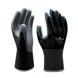 atlas fit 370 black nitrile coated gardening