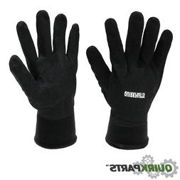 QuirkParts Black Sandy Nitrile Coated Winter Gloves Lined Co