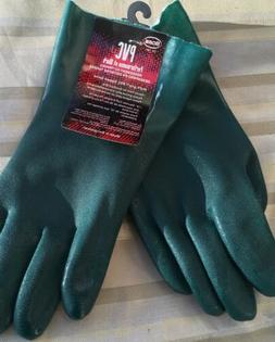 Boss Gloves Large RuffGrip Gauntlet PVC Coated Gloves
