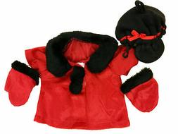 "Coat and Gloves Fits Most 14"" - 18"" Build-a-bear and Make Yo"