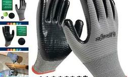 Coated Work Gloves Firm Grip, 8-Pair Pack, General Purpose,