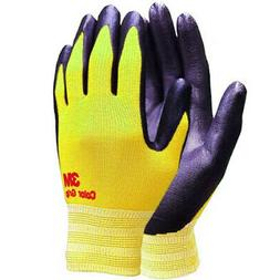 3M Color Grip Yellow Safety Gloves Nylon Nitrile Foam Coated