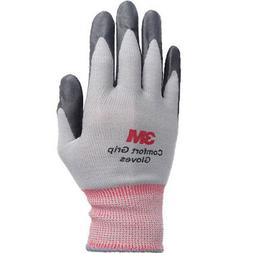 3M Comfort Grip Gray Nitrile Foam Coated Work Safety Gloves