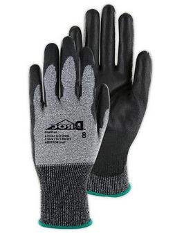 Magid D-ROC HPPE Polyurethane Palm Coated Work Gloves Size 1