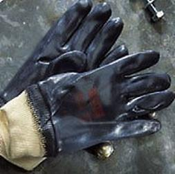 "Ansell Edge 40-402 nitrile fully coated ""tough"" gloves with"