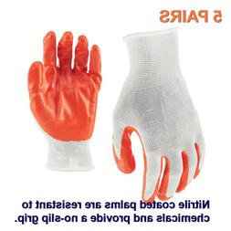 Firm Grip Nitrile Dip Large Gloves  Latex free and Nitrile c