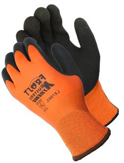 Frost Buster Thermo Latex Waterproof Winter Gloves Orange Fu