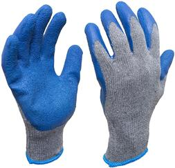 G  F 3100M-DZ Knit Work Gloves with Textured Rubber Latex Co