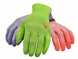 G & F 15226 Women's Garden Gloves, 6 Pair Pack, assorted col