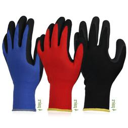 Gardening Gloves For Work 12 Pairs Breathable Rubber Coated