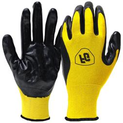 General Purpose Large Nitrile Coated Gloves Flexible Safety