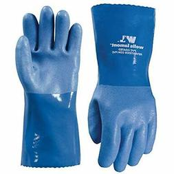 Heavy Duty PVC Coated Work Gloves, Liquid/Chemical Resistant