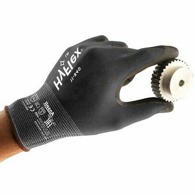 ANSELL 11-840 Coated Gloves,Nitrile,Silver, size 6,PR