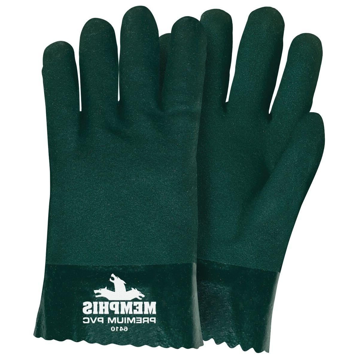 6410 double dipped pvc coated gloves jersey