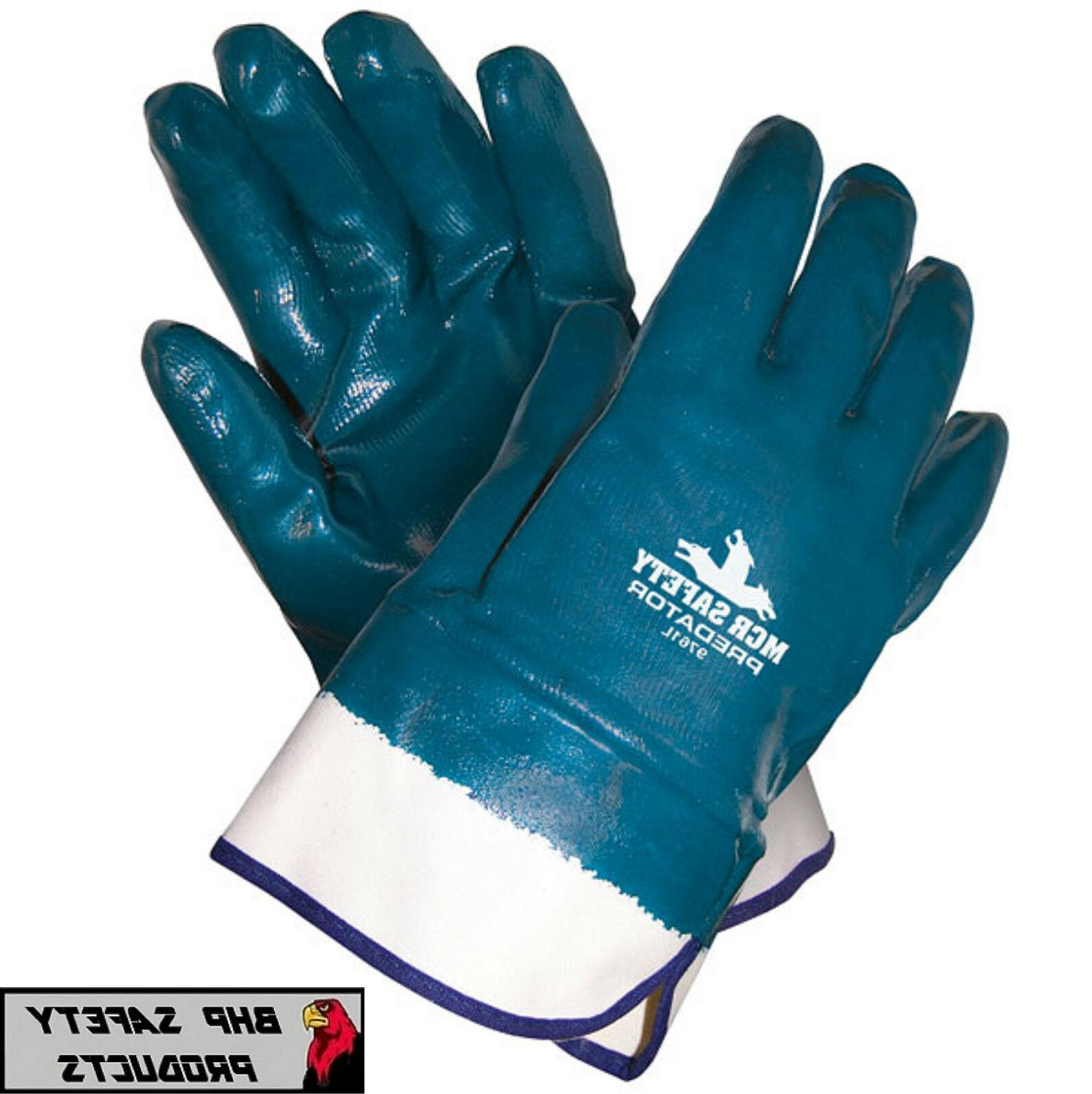9761l predator fully coated nitrile gloves blue