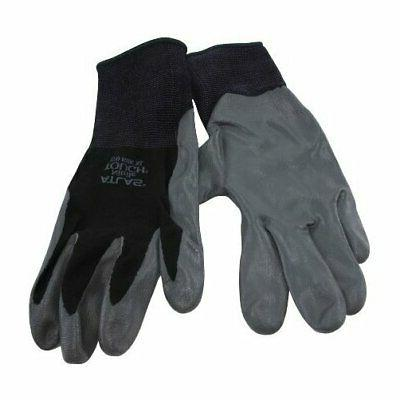 black universal small nitrile dipped gloves