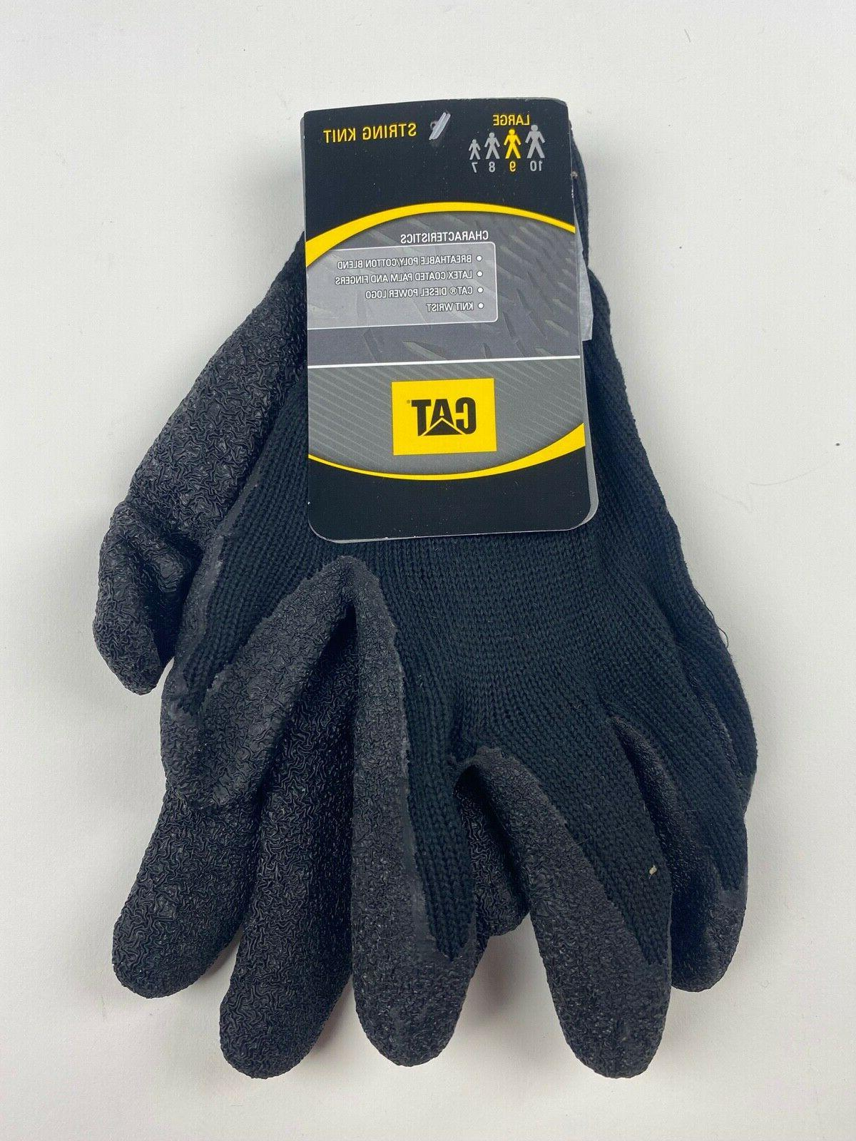 cat017400l cotton coated palm gloves