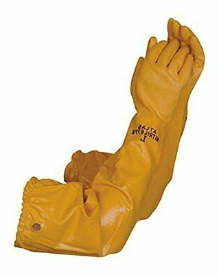 coated gloves long cotton lined