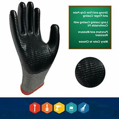 Coated Work Grip, 8-Pair Pack, Purpose, Work and Con