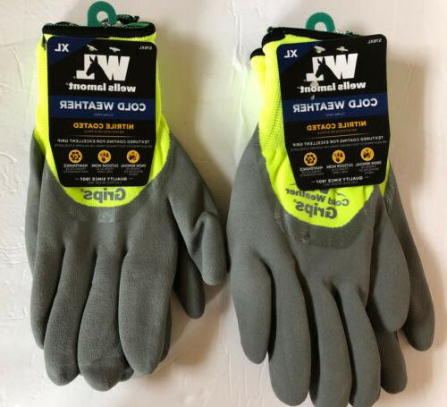 cold weather grips gloves size x large
