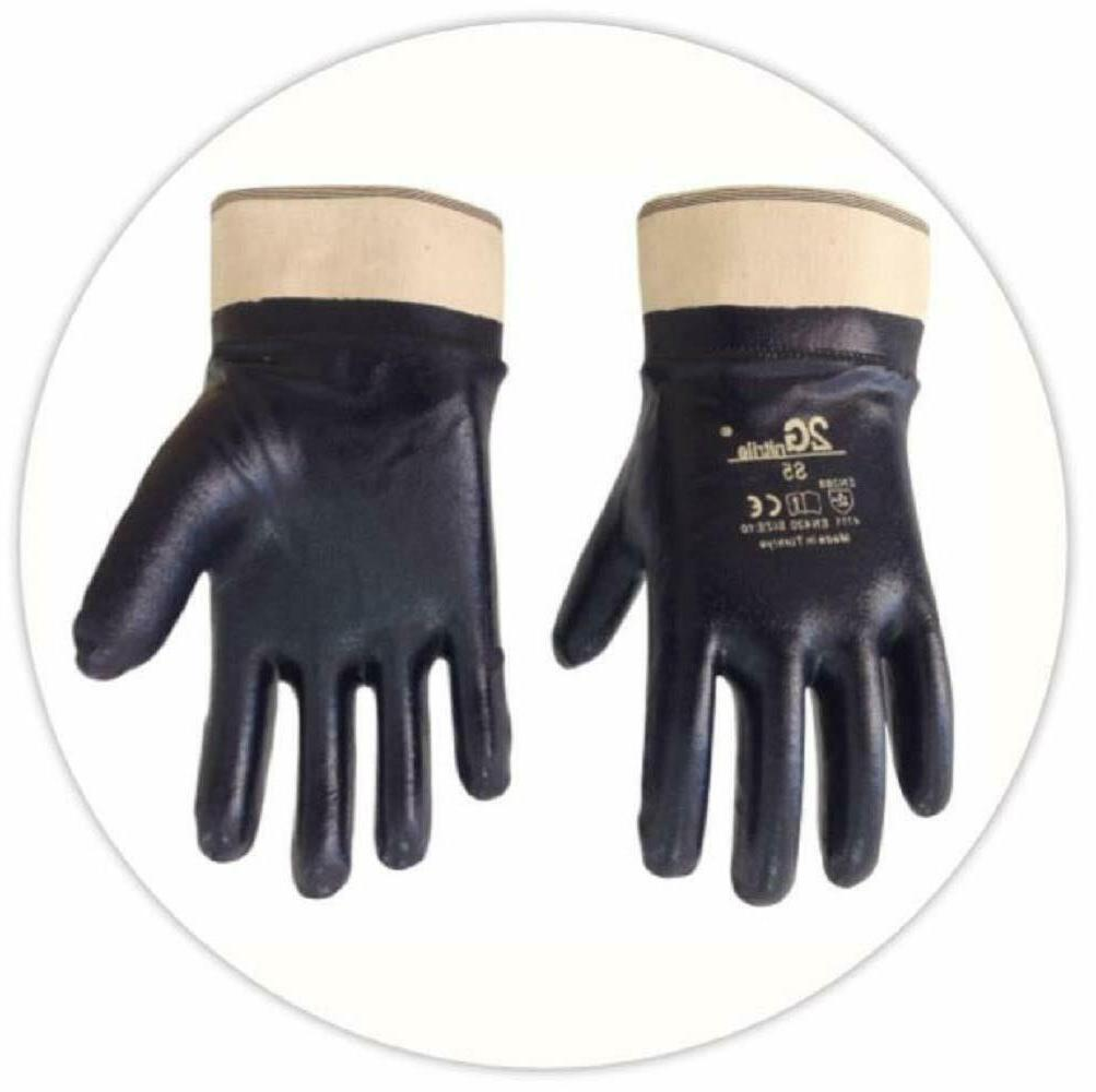 fully nitrile coated cotton work gloves safety