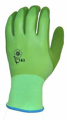 G & F 1537L-6 Aqua Gardening Women's Gloves with Double Micr