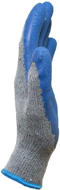 G Amp;Amp; Knit Gloves Textured Rubber Coated 12-Pa