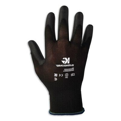 G40 Polyurethane Coated Gloves, 220 mm Length, Small, Black,