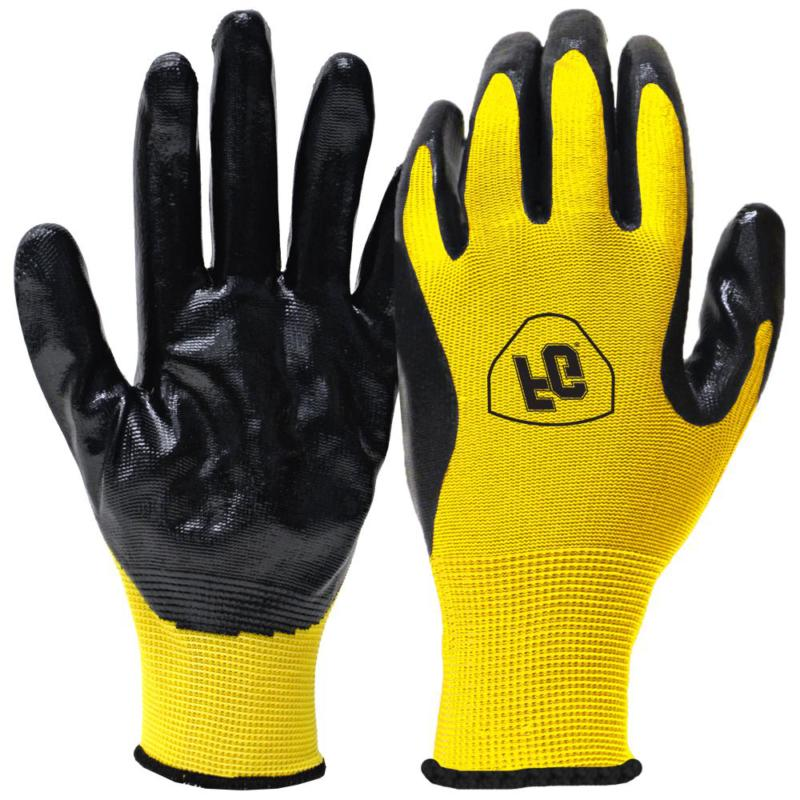 general purpose large nitrile coated gloves flexible