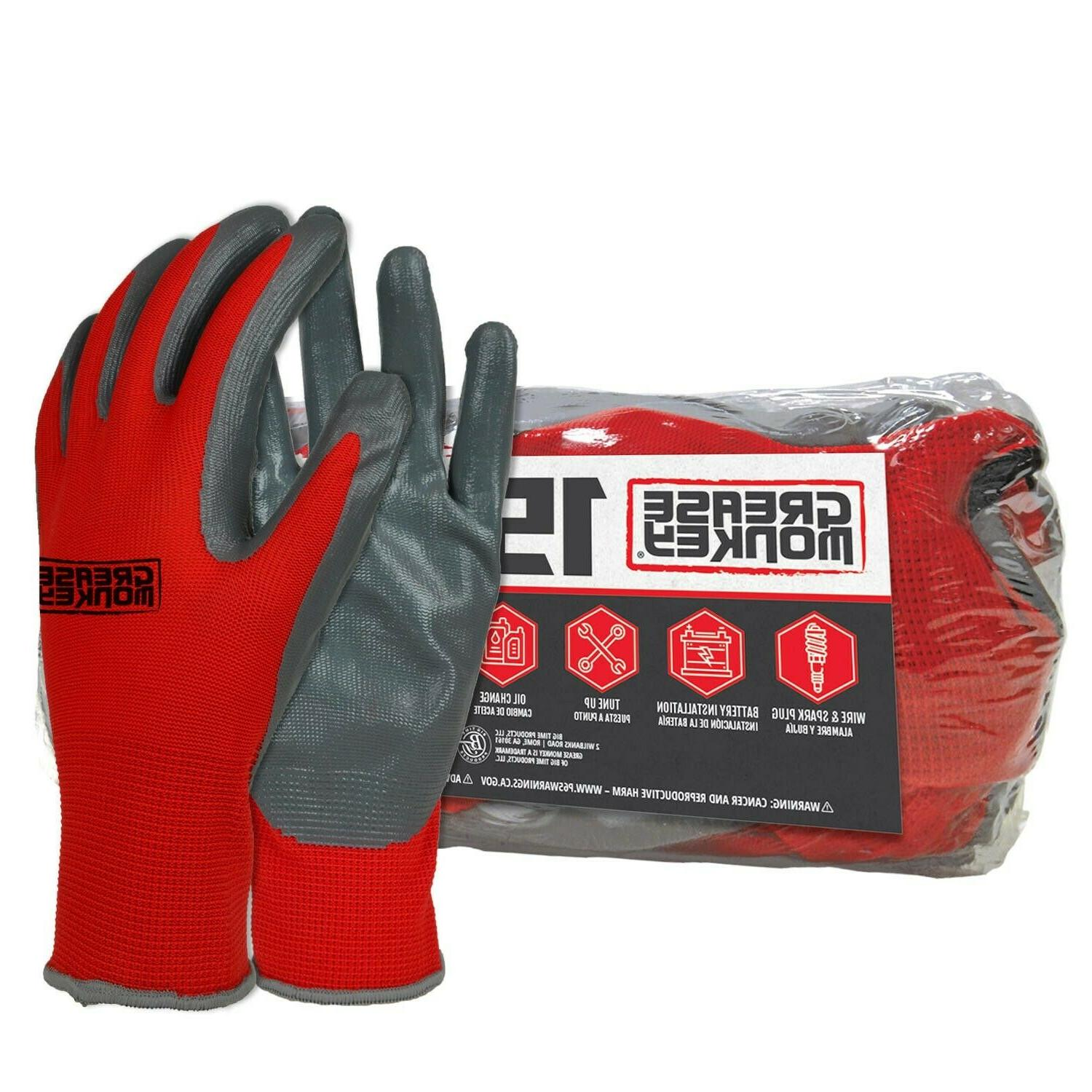general purpose nitrile coated work gloves size